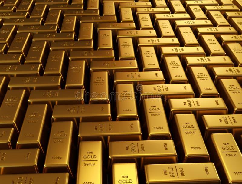 ράβδοι χρυσές απεικόνιση αποθεμάτων