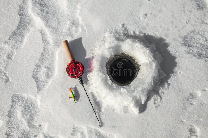 Ράβδος αλιείας πάγου στοκ φωτογραφία