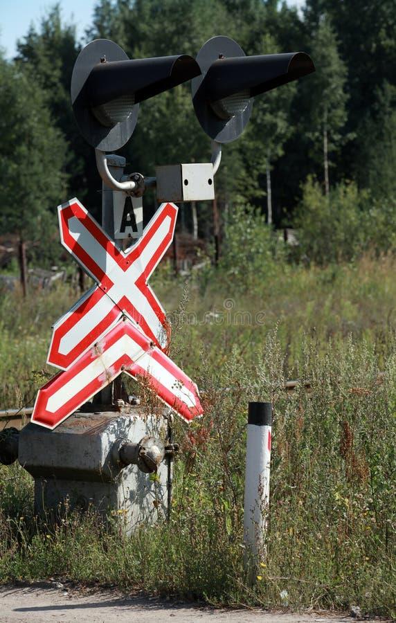 Ράγα που διασχίζει το σημάδι στοκ φωτογραφία με δικαίωμα ελεύθερης χρήσης