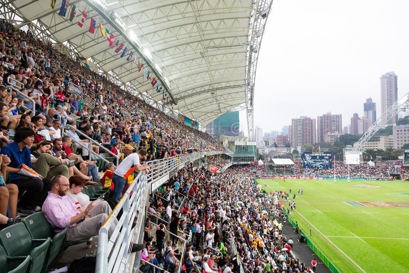 Ράγκμπι Sevens 2014 Χονγκ Κονγκ στοκ εικόνα με δικαίωμα ελεύθερης χρήσης