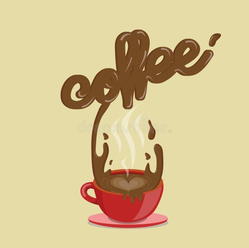 ράντισμα καφέ ελεύθερη απεικόνιση δικαιώματος