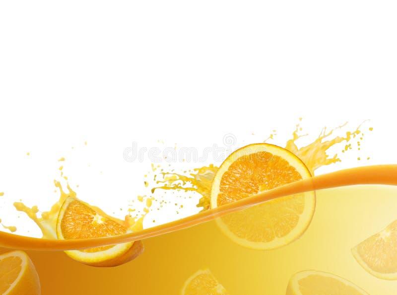 Ράντισμα χυμού από πορτοκάλι στοκ φωτογραφία με δικαίωμα ελεύθερης χρήσης
