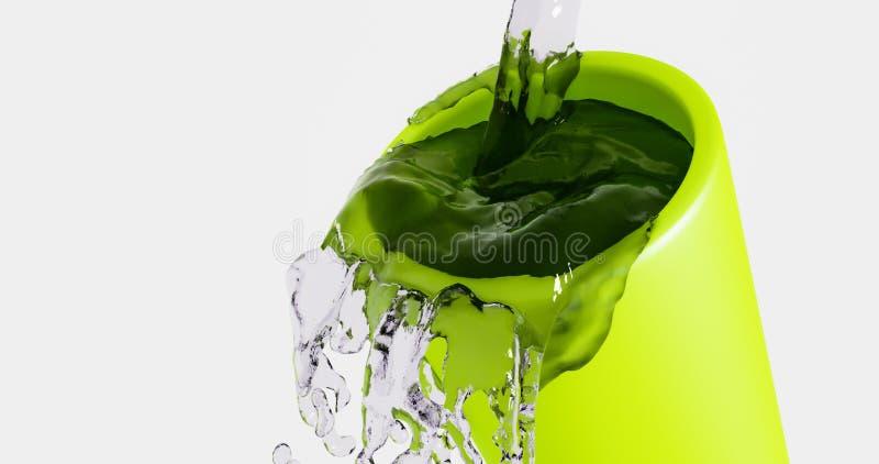 Ράντισμα ύδατος από το γυαλί απεικόνιση αποθεμάτων