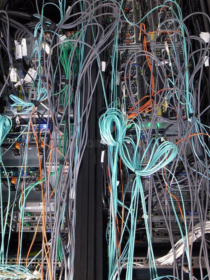 Ράφια κεντρικών υπολογιστών στοκ εικόνες