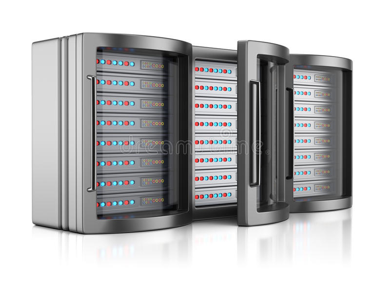 Ράφια κεντρικών υπολογιστών διανυσματική απεικόνιση