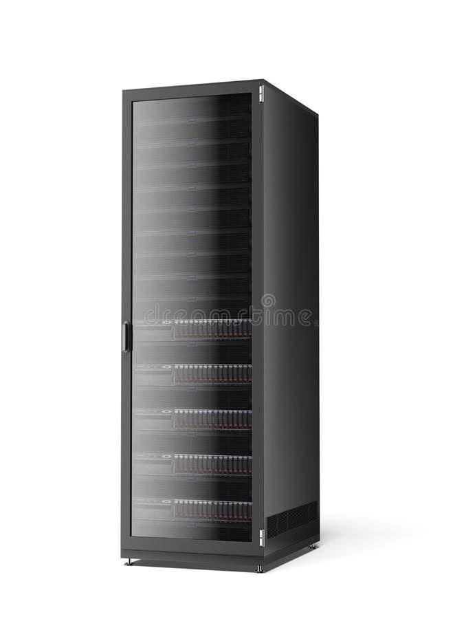 Ράφι κεντρικών υπολογιστών απεικόνιση αποθεμάτων