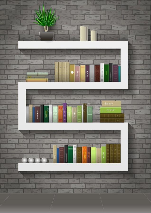 Ράφι με τα βιβλία απεικόνιση αποθεμάτων