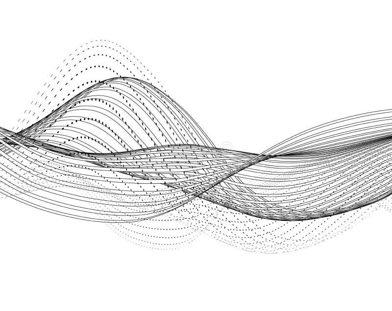 Ρέοντας γραμμές και σημεία διανυσματική απεικόνιση