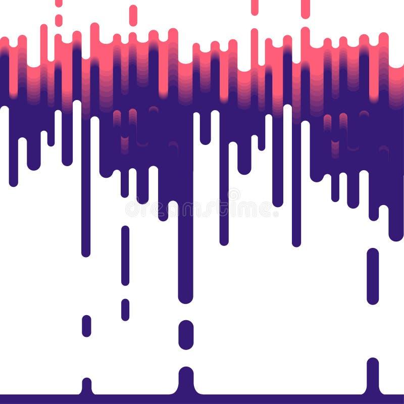 Ρέοντας καταρράκτης του χρώματος ζωηρόχρωμο φωτεινό σχέδιο ελεύθερη απεικόνιση δικαιώματος