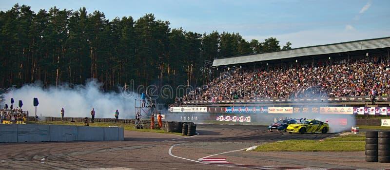 Ρήγα, Λετονία - 2 Αυγούστου 2019 - varsus Adam Zalewski του Johannes Houtondji στοκ φωτογραφία με δικαίωμα ελεύθερης χρήσης