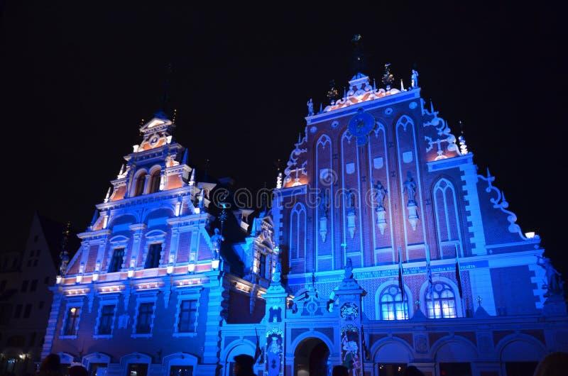 Ρήγα, Λετονία, ελαφρύ φεστιβάλ Staro Ρήγα στοκ εικόνα