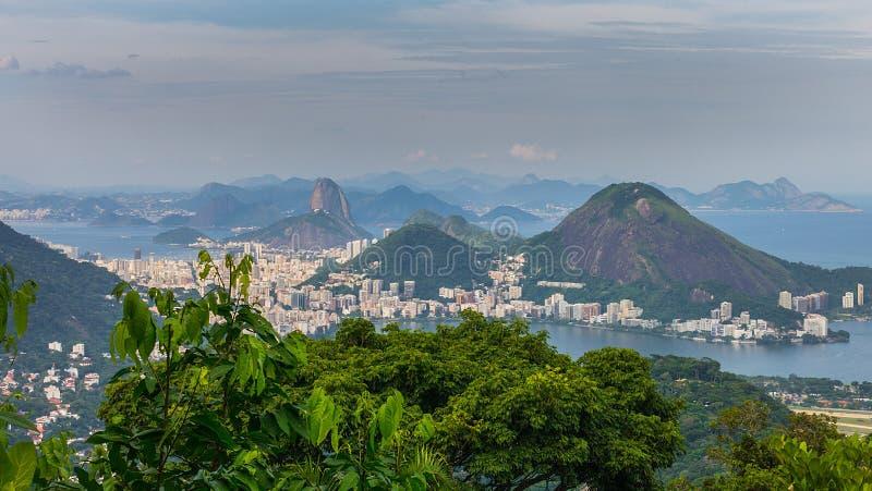 Ρίο ντε Τζανέιρο - άποψη από Vista Chinesa στοκ φωτογραφίες