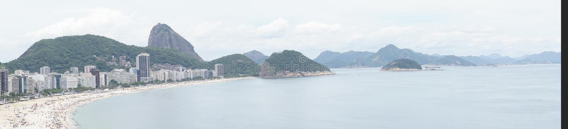 Ρίο ντε Τζανέιρο, Βραζιλία - 01 01 2019 παραλία Copacabana στο Ρίο ντε Τζανέιρο, Βραζιλία Εναέρια άποψη της αμμώδους παραλίας Cop στοκ εικόνες με δικαίωμα ελεύθερης χρήσης