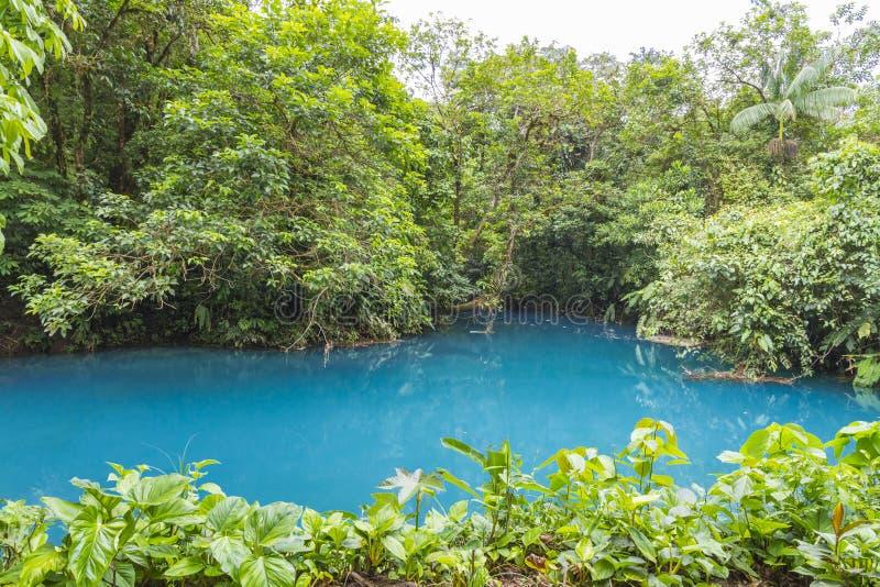 Ρίο Celeste, εθνικό πάρκο ηφαιστείων Tenorio, Κόστα Ρίκα στοκ εικόνες