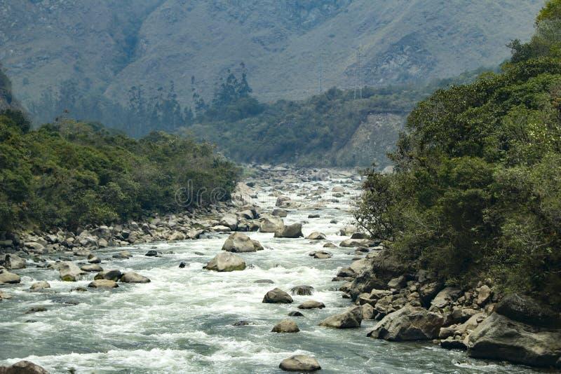Ρίο Vilcanota στο Περού στοκ εικόνα