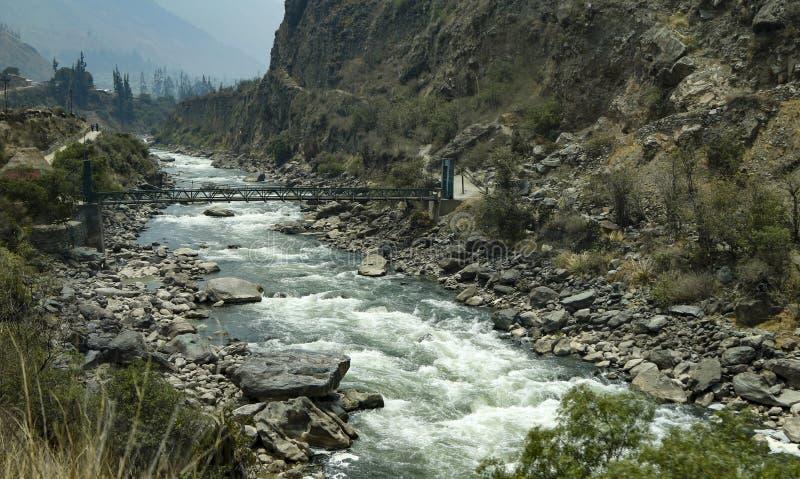 Ρίο Vilcanota στο Περού στοκ εικόνες