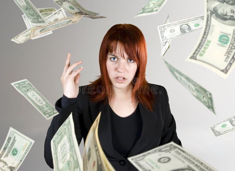 ρίψηη χρημάτων κοριτσιών προ&s στοκ εικόνες