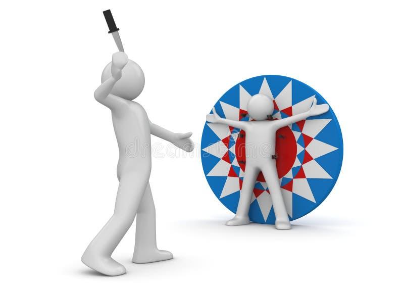 ρίψη μαχαιριών τσίρκων ελεύθερη απεικόνιση δικαιώματος
