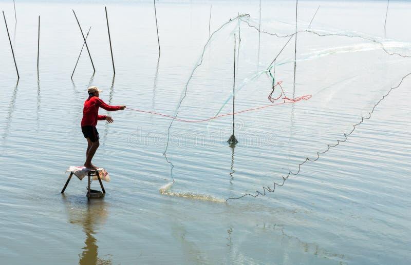 Ρίψη ψαράδων καθαρή στοκ φωτογραφία