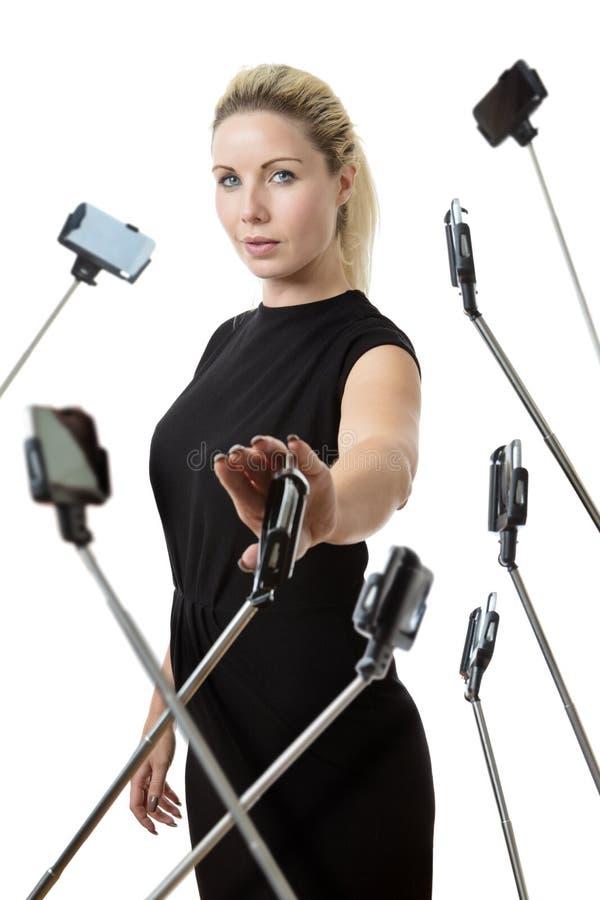 Ραβδί μίσους selfie στοκ εικόνες με δικαίωμα ελεύθερης χρήσης