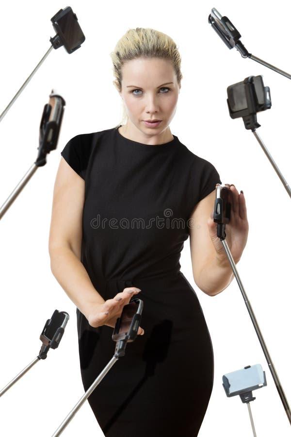 Ραβδί μίσους selfie στοκ φωτογραφίες