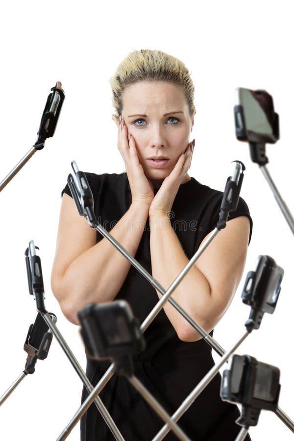 Ραβδί μίσους selfie στοκ φωτογραφία