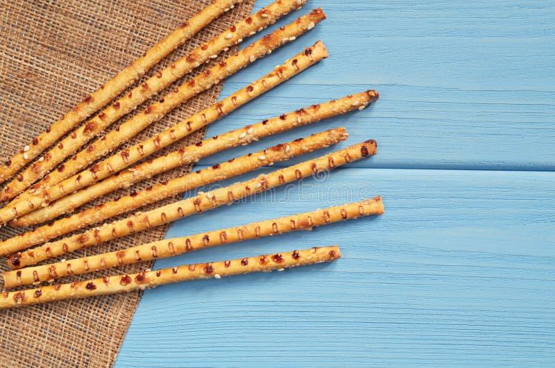Ραβδιά ψωμιού με το σουσάμι στοκ φωτογραφία