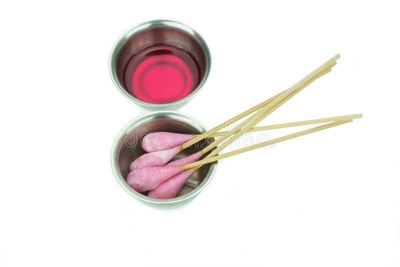 Ραβδί βαμβακιού με το chlorhexidine για τον καθαρισμό στοκ φωτογραφία με δικαίωμα ελεύθερης χρήσης