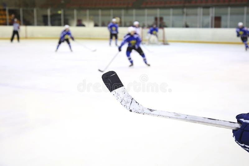 Ραβδί χόκεϋ πάγου στοκ εικόνες
