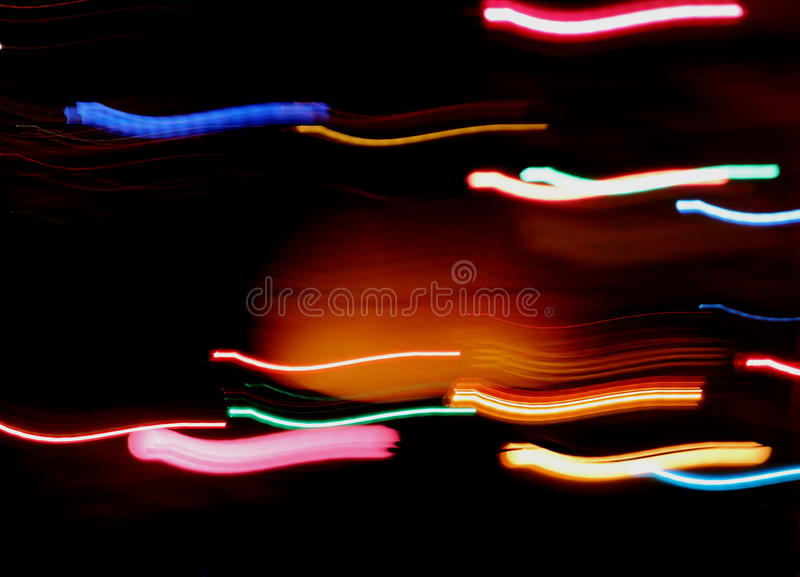 Ραβδώσεις του ζωηρόχρωμου φωτός στοκ εικόνες