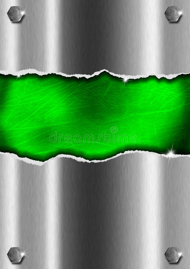 Ραγισμένη ανασκόπηση μετάλλων διανυσματική απεικόνιση