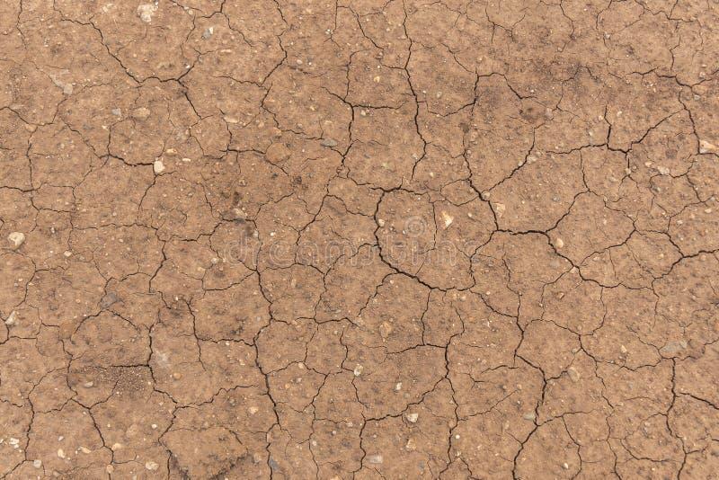 Ραγισμένη βρώμικη γη Σύσταση εδαφολογικού εδάφους r Σφαιρική έννοια θέρμανσης στοκ φωτογραφία με δικαίωμα ελεύθερης χρήσης