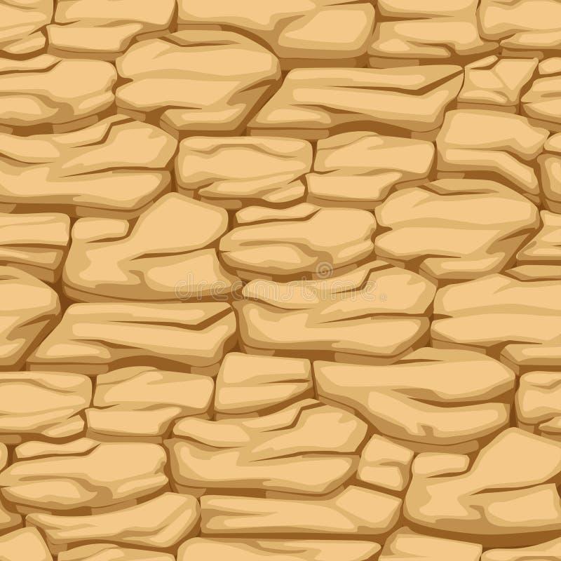 Ραγισμένη γη σχεδίων, άνευ ραφής χώμα ερήμων σύστασης απεικόνιση αποθεμάτων