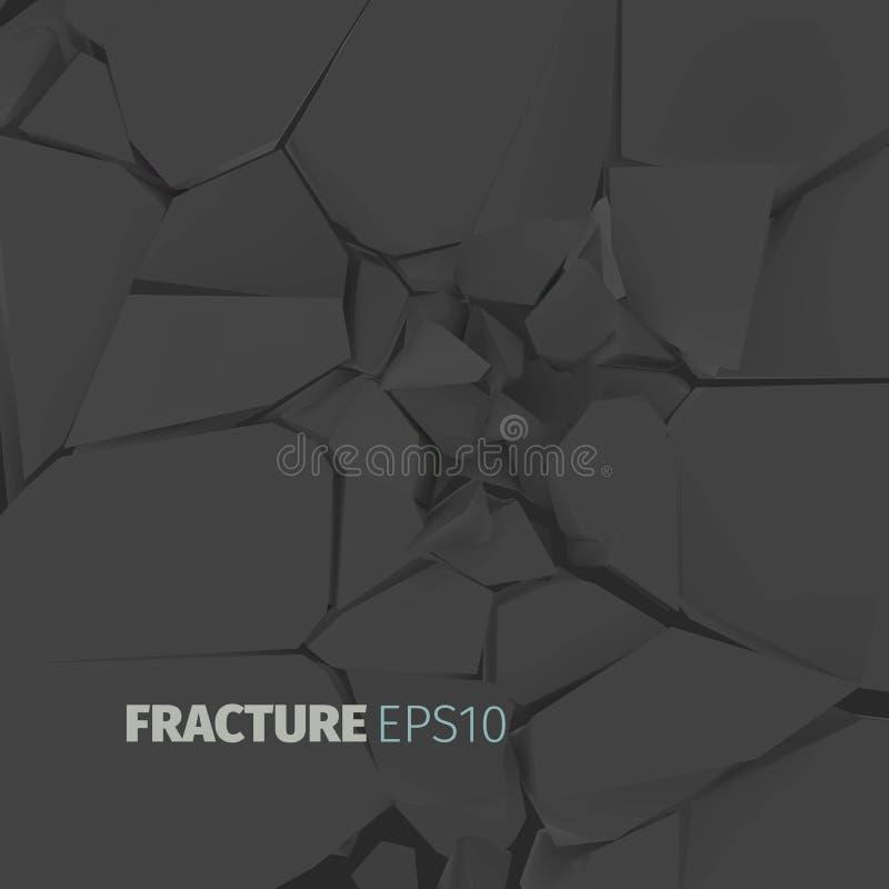 Ραγισμένη μαύρη σύσταση βράχου Υπόβαθρο επιφάνειας Fractrure στοκ φωτογραφία