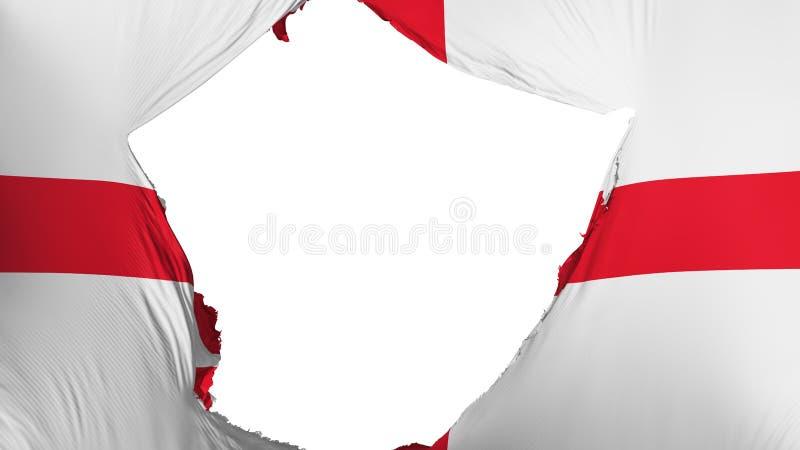 Ραγισμένη σημαία της Αγγλίας ελεύθερη απεικόνιση δικαιώματος