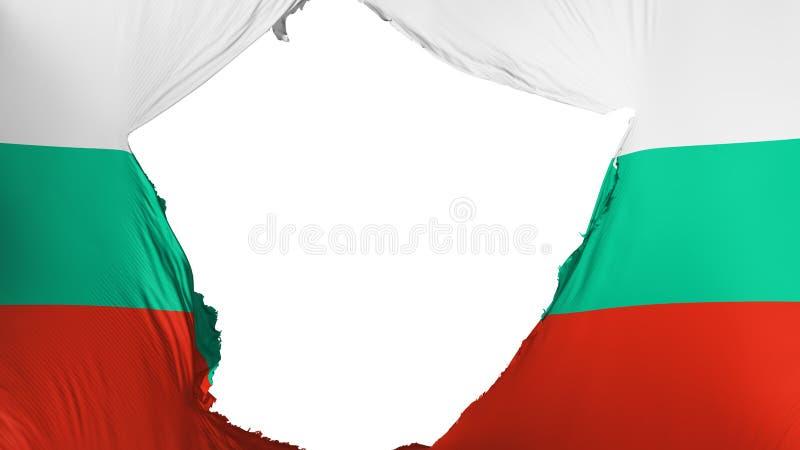 Ραγισμένη σημαία της Βουλγαρίας απεικόνιση αποθεμάτων