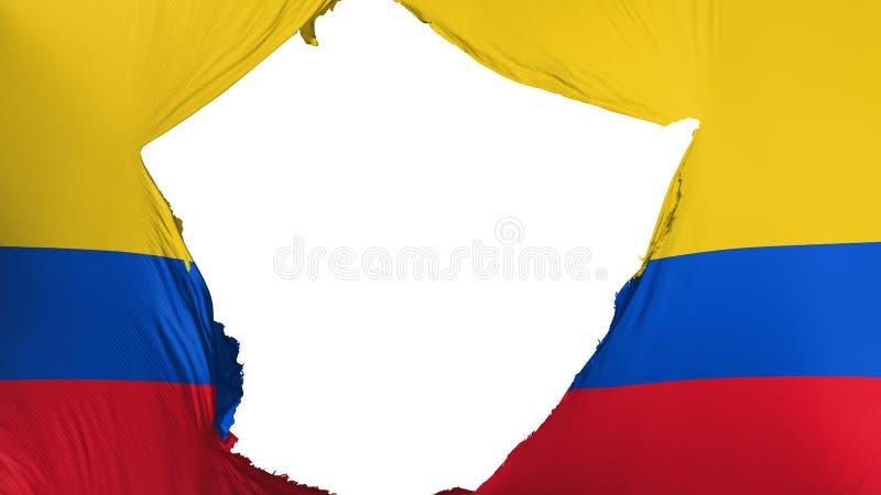 Ραγισμένη σημαία της Κολομβίας ελεύθερη απεικόνιση δικαιώματος