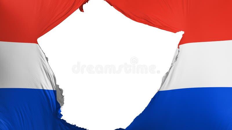Ραγισμένη σημαία της Παραγουάης απεικόνιση αποθεμάτων