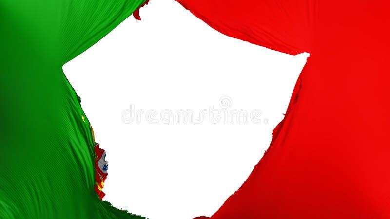 Ραγισμένη σημαία της Πορτογαλίας ελεύθερη απεικόνιση δικαιώματος