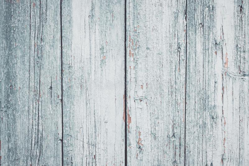 Ραγισμένος του γκρίζου χρώματος στο φράκτη Shabby λευκοί πίνακες Γκρίζα ξύλινη επιφάνεια Παλαιό υπόβαθρο σύστασης φρακτών panel w στοκ φωτογραφίες