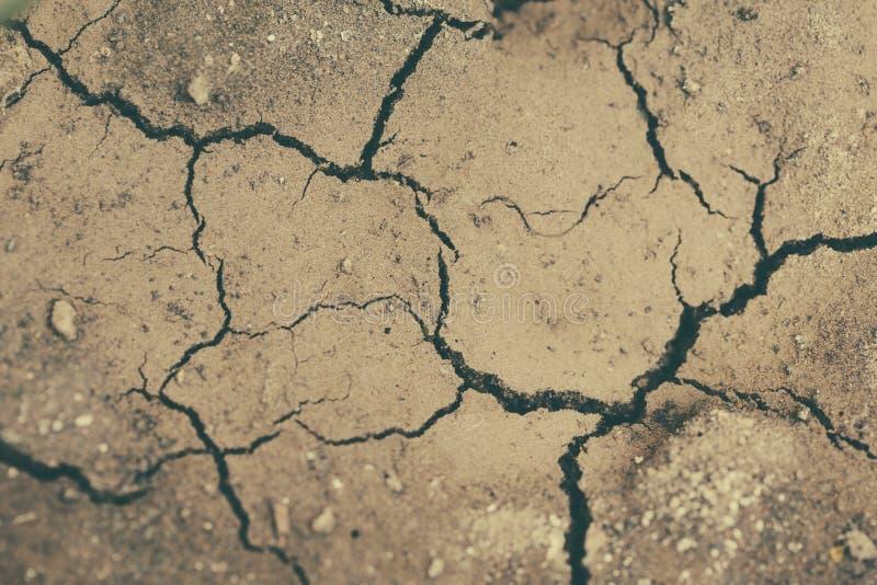 Ραγισμένο έδαφος από την ξηρασία κοντά επάνω στοκ εικόνα με δικαίωμα ελεύθερης χρήσης