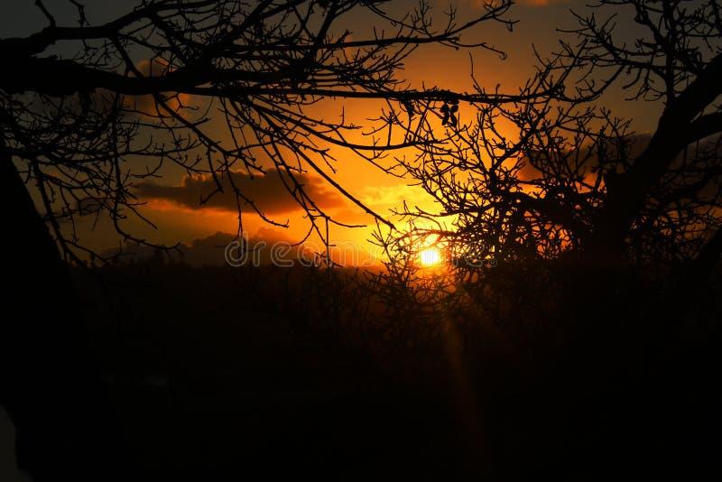 Ραγισμένο ηλιοβασίλεμα στοκ φωτογραφία με δικαίωμα ελεύθερης χρήσης