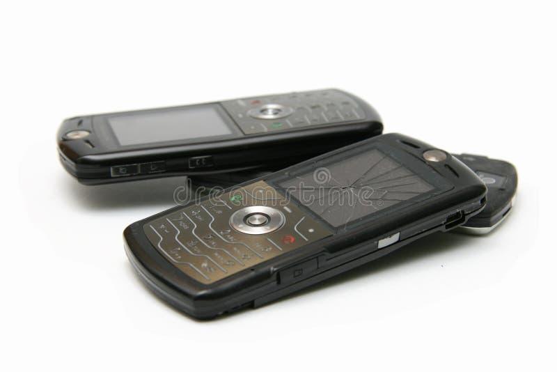 ραγισμένο κινητό τηλέφωνο π& στοκ φωτογραφίες με δικαίωμα ελεύθερης χρήσης
