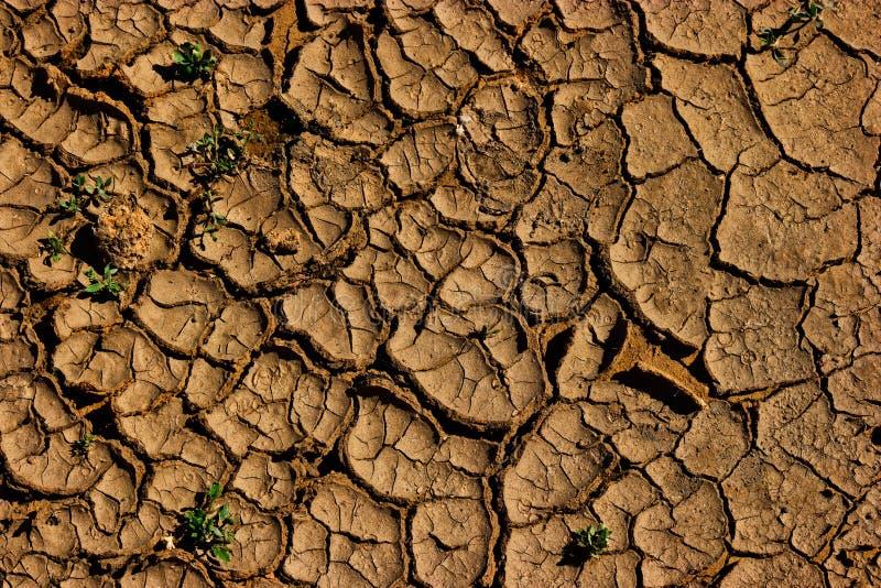 Ραγισμένο χώμα - γήινη παγκόσμια αύξηση της θερμοκρασίας λόγω του φαινομένου του θερμοκηπίου, ξηρασία στοκ φωτογραφίες