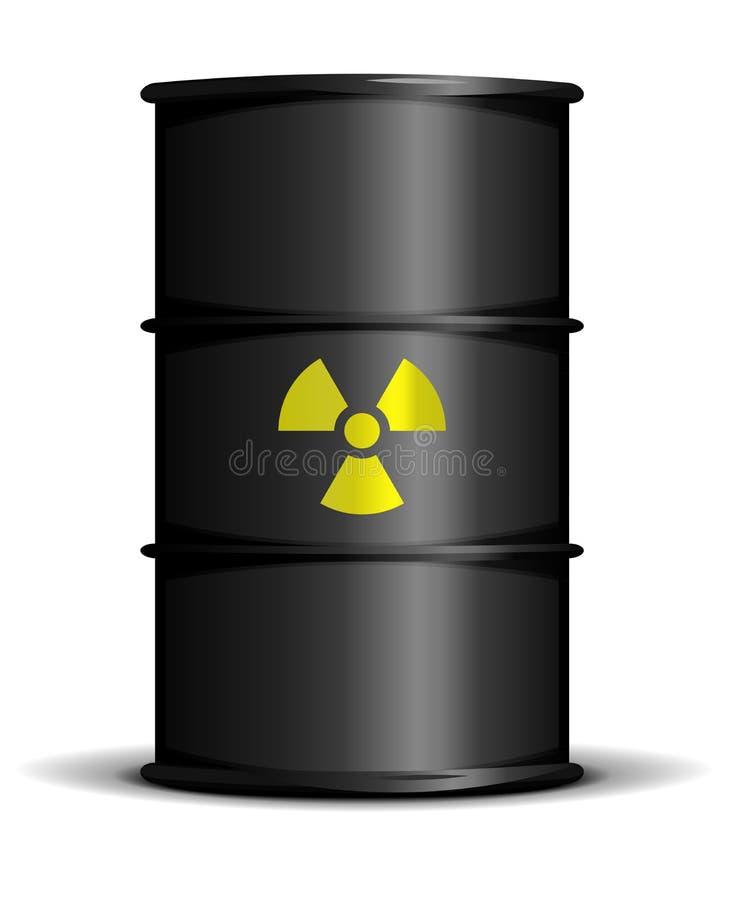 ραδιενεργά απόβλητα βαρελιών διανυσματική απεικόνιση
