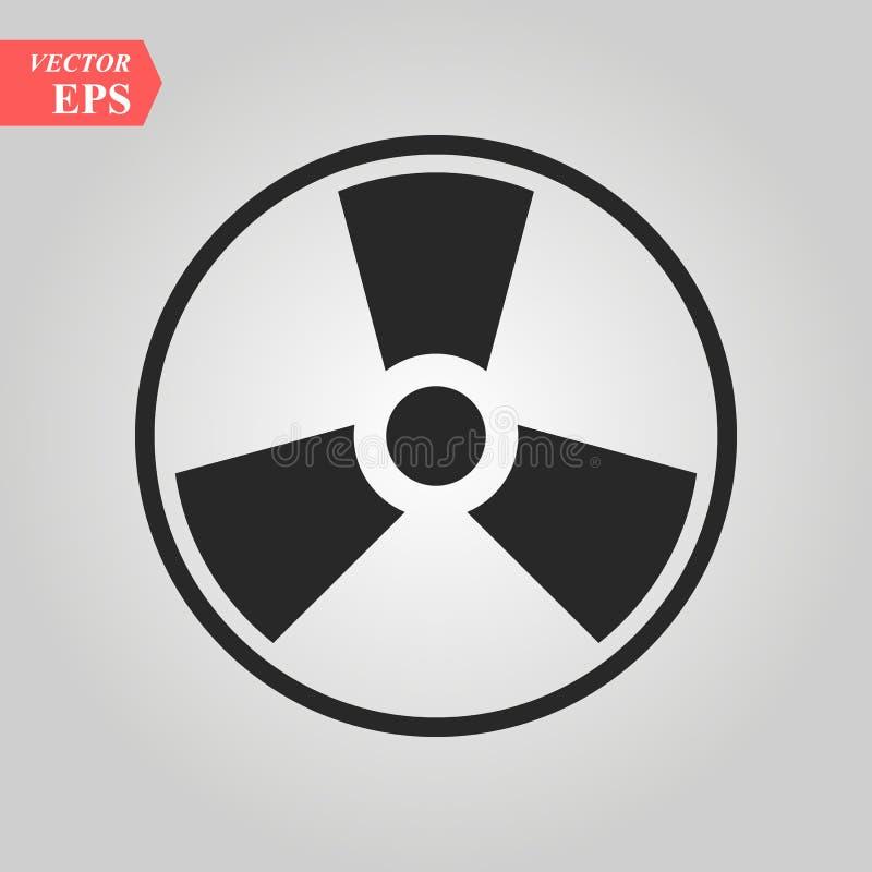 ραδιενεργός τοξικός Άτομο κίνδυνος κίνδυνος Διάνυσμα εικονιδίων Biohazard απεικόνιση αποθεμάτων