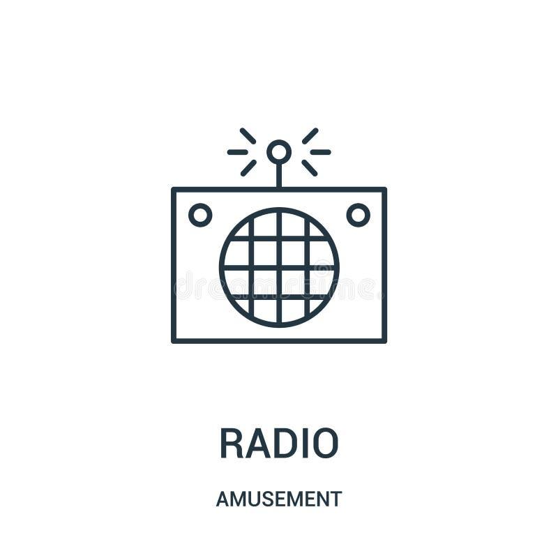 ραδιο διάνυσμα εικονιδίων από τη συλλογή διασκέδασης Λεπτή διανυσματική απεικόνιση εικονιδίων περιλήψεων γραμμών ραδιο απεικόνιση αποθεμάτων