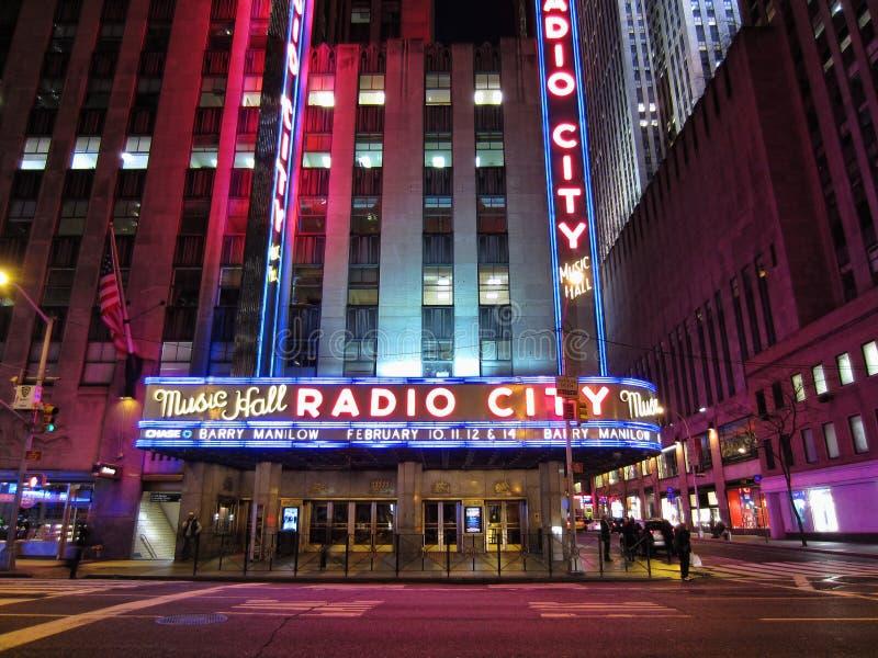 Ραδιο μέγαρο μουσικής πόλεων στοκ εικόνες με δικαίωμα ελεύθερης χρήσης