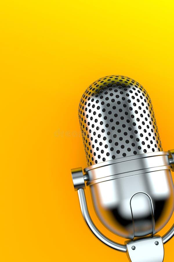 Ραδιο μικρόφωνο διανυσματική απεικόνιση