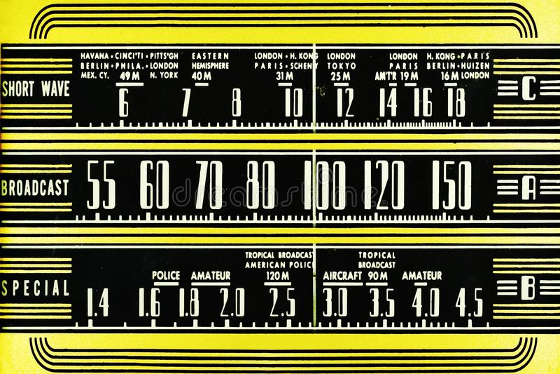 ραδιο τρύγος πινάκων διανυσματική απεικόνιση